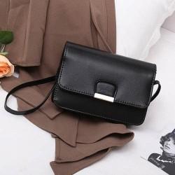 tas selempang fashion wanita sling bag messenger simple korea bta338 - Hitam