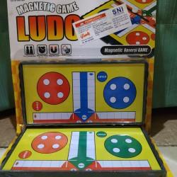 Ludo magnetic board game. mainan ludo magnet boardgames edukasi anak