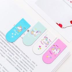 pembatas buku magnet unicorn magnet bookmark skl022 - model 3