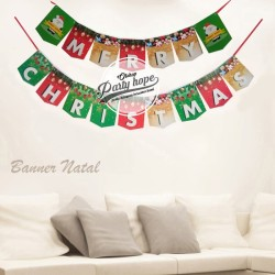 Banner Marry Christmas / Banner Natal / Bunting Flag Natal / baner new