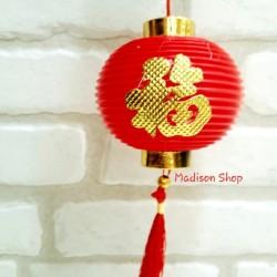 Lampion Bulat Fu 6 cm Hiasan Parcel Imlek Dekorasi Pohon Imlek Murah