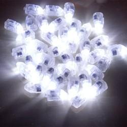 Lampu Balon LED Multifungsi 50PCS - White