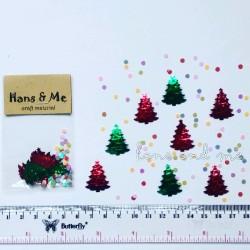 Payet Manik Pohon Natal Mix Snow