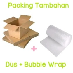 BOX KARDUS PACKING TEMPERED GLASS DUS + BUBBLE WRAP TAMBAHAN
