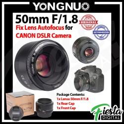 Lensa Yongnuo YN 50mm f/1.8 For Canon EF , Lensa Fix 50mm