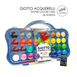 Giotto Acquerelli MINI 36 Warna ( Water Color Cake / Cat Air )