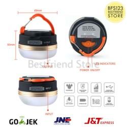 Lampu Tenda Led Rechargeable Hook Carabiner Magnet