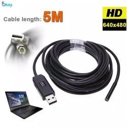 Endoscope camera 5M 7mm waterproof kamera endoskopi