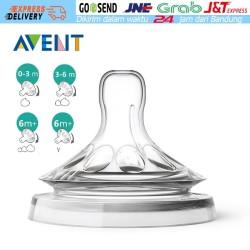 Natural Medium Flow Teats Nipple Cocok unutk Philips Avent Classic 3H