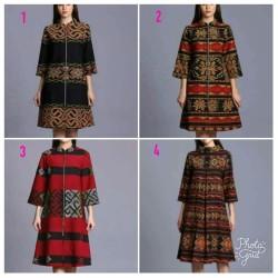 dress tenun etnik batik tenun modern dress casual