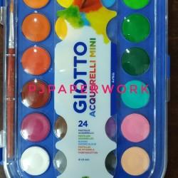 Cat air 24 warna Mini Giotto acquarelli pas untuk anak