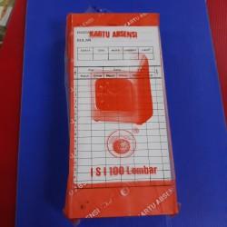 Kartu absensi untuk mesin absen amano dan sejenisnya merk jeruk