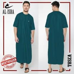 Jubah Arabi Al Isra Pria Muslim lengan pendek