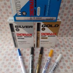 Spidol Paint Marker Snowman/Spidol Paint Permanen/Spidol Putih Silver