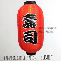 Lampion capsule sablon SUSHI hiasan pajangan dekorasi restoran jepang