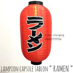 lampion capsule sablon RAMEN hiasan pajangan dekorasi restoran jepang