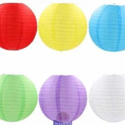 LAMPION KAIN POLOS 25 CM/LAMPION WARNA/LAMPION PESTA/LAMPION IMLEK