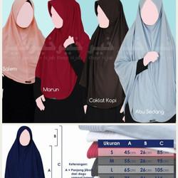 Hijab Khayr anti tembem Adiba - Bargo kaos (M)