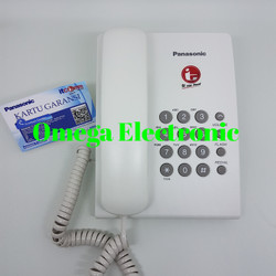 RESMI Panasonic KX-TS505 - Telepon Kantor Rumah Gantung Kabel - Putih