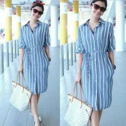 MD 0849 biru Muda [Dress 0117] RDE