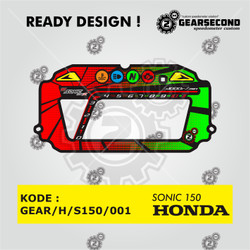 Ready Design Panel Speedometer Custom Sonic 150 - Gearsecond Speedo