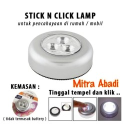 Stick N Click Lamp 3 Mata LED/Lampu Tempel Emergency/Stick Touch Lamp
