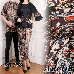 MUSLIM COUPLE/MUSLIM PASANGAN/DRESS COUPLE/BAJU COUPLE ADELIA GROSIR