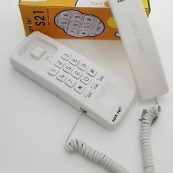 Telepon Gagang / Telpon Rumah Kabel Sahitel S21 Putih