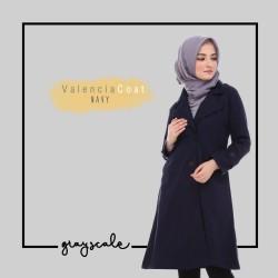 Jaket Wanita Muslimah Grosir Murah Valencia Coat Wanita Navy - S
