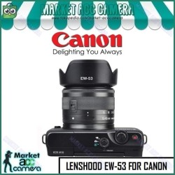 Lens Hood EW-53 for Canon EOS M 15-45mm (EOS M10/M3/M5/M6/M50/M100)