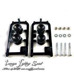 Rep Tamiya 15457 Low Friction Plastic Double Roller Naga Black (PS1003