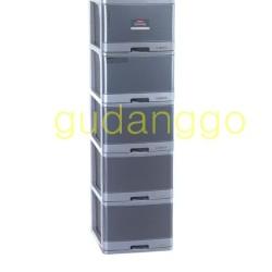 Excel Container L5 XC-17 Lion Star Laci Plastik Large Susun 5