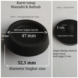 Karet tutup wastafel atau bathtub per 1 pcs