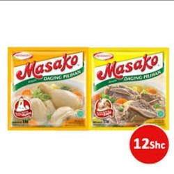 Masako Ayam 11 Gram - Kemasan Praktis 12 Sachet