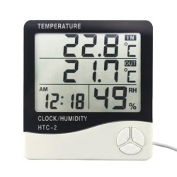 Jam Weker Digital Alarm Sensor Suhu Temperature Lembab HTC-2 HTC 2