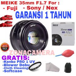 Lensa MEIKE 35mm APS-C F1.7 for Sony Nex/Fuji