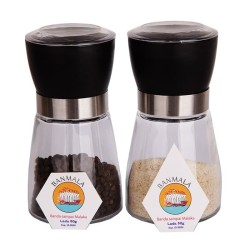 Banmala Pepper and Salt Mill/Grinder paket duo Lada + Garam