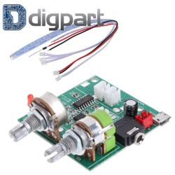 Surround Digital Stereo Class D Amplifier AMP Board Module DC 5V 20W