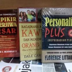 Paket 3 Buku Berfikir Berjiwa Besar Personality Plus Bagaimana Mencari