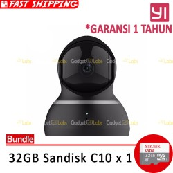 Bundle Yi Dome CCTV 1080 / 1080P International + Sandisk 32 GB - Hitam