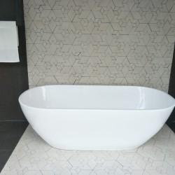 BATHTUB FREE STANDING MARBLE OVALIO 165