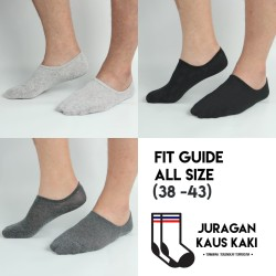 Kaos Kaki Bawah Mata Kaki Hidden Socks Invisible Socks Katun Murah