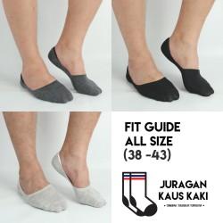 Kaos Kaki Bawah Mata Kaki Hidden Socks Invisible Socks Katun Impor