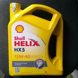 oli shell Helix HX5 15w-40 100% asli 4liter khusus gosend