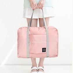 Korean Easy Travel Bag foldable Tas travel hand carry Koper Lipat - NAVY-FB