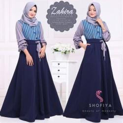 Baju Gamis Wanita Terbaru - Zahira Dress - Baju Maxi Dress Hijab Syari