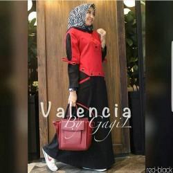 Baju Gamis Wanita Terbaru - Valencia Dress - Baju Dress Hijab Syari
