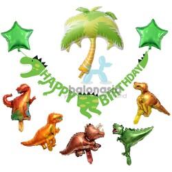 Balonasia Paket Dekorasi Dinosaurus Set Lengkap