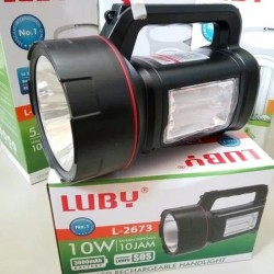 Senter cas LUBY L2673 senter besar 2in1 LED RECHARGEABLE HANDLIGHT