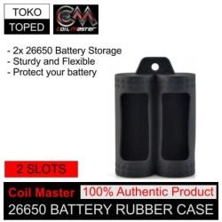 Authentic Coil Master 2 Slot 26650 Battery Rubber Case   case silicon
